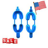 US SALE Dental Fluoride Trays Dual Arch great for Gel or Foam - 100 Large (Blue)