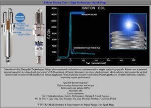 4x Ford Galaxy 2.0i y1995-2006 = Pulstar Plasma Core Upgrade Spark Plugs