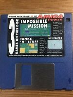 Amiga Power Magazine cover disk 40 Impossible Mission Tanks N StufTESTED WORKING
