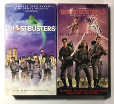 Ghostbusters & Ghostbusters 2 (VHS, 1989, Closed Captioned) Digitally Remastered