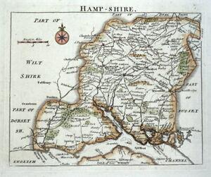 HAMPSHIRE, John Rocque Original Antique County Map 1769
