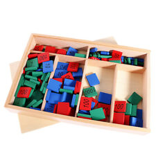 Montessori Mathematics Math Stamps Game Kids Early Learning Toy Resource