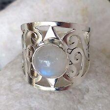 Markenlose Echte Edelstein-Ringe mit Mondstein für Damen