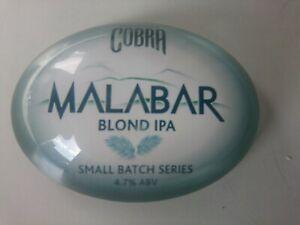 #C013 COBRA MALABAR OVAL BAR BADGE, pub,font,tbar,mancave