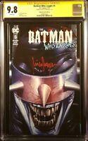 BATMAN WHO LAUGHS #5 CGC SS 9.8 SUAYAN VARIANT GRIM KNIGHT ARKHAM JOKER DC COMIC