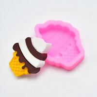 DIY Ice Cream Baking Mold Silicone Cake Fondant Mould Bakeware Sugarcraft