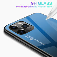Tempered Glass Phone Case Luxury Hard Shockproof Bumper For iPhone 11 Pro Max