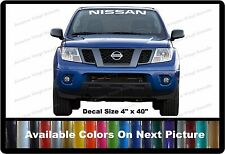 "Nissan Front Windshield Banner Decal Fits Nissan Cars,Trucks,SUV's 4"" x 40"""
