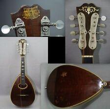 1915-1920 Weymann Keystone Mandolin Mandolute w Case 28961 No.50 Fancy MOP Inlay