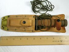 Vintage Ontario Vietnam era 1973 Us military hunting pilot survival knife, Nos
