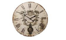 New Large Vintage English Cream Round Wall Clock Pendulum Vintage 58cm Diameter