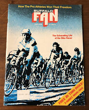 1976 Buffalo Fan Magazine RARE BUFFALO BRAVES SHIRT IRON-ON & TICKET APPLICATIO