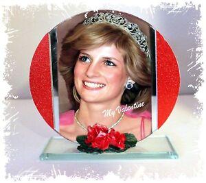 Diana, My, My Princess, My Valentine Cut Glass Round Plaque, Limited Edition #1