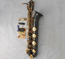 Professional Taishan Baritone saxophone Black Nickel Gold Eb Sax Low A With Case