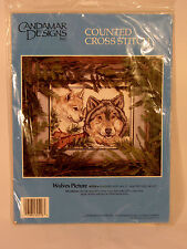 Wolves Picture Counted Cross Stitch Kit  60518 1994 Candamar Designs NIP