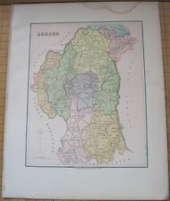 "Irish Map County ARMAGH Baronies Northern Ireland Thomas Kelly 1882 6.75"" x 8.5"""