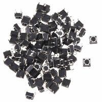 100pzs 6 x 6mm x 4.3mm Panel PCB Momentario Tactil Interruptor boton pulsad B9I7