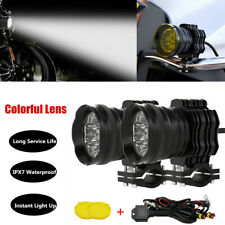 Motorcycle CNC Colorful Lens Modified Led Spotlight Headlight External Driving