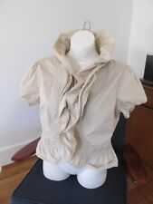 Boo Radley Beige Light Weight Bolero Short Sleeves Ruffles Shrug