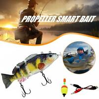Electric Live bait LED Swimming Robotic Segment Fishing Animated Swimbait N3G2