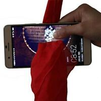 RED CLOTH HANKY THRU BORROWED PHONE DYNAMO SCARF THROUGH MOBILE MAGIC TRICK J