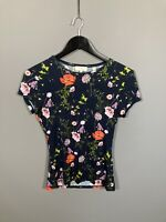 TED BAKER Top - Size 1 UK8 - Floral - Great Condition - Women's