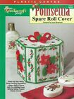 NEW POINSETTIA SPARE ROLL COVER BATH TISSUE PLASTIC CANVAS PATTERN LEAFLET