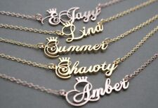 Customized Name Crown Necklace Handmade Jewelry Personalized Stainless Steel New