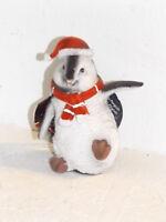 Pinguin sitzend Dekofigur Winter Deko Weihnachten Tier Polyresien 10*9*5 cm
