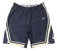 New Nike Women's Medium UConn Huskies Hyperelite League Short Blue White 867924