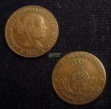 *GUTSE*40-ISABEL II, 1 CÉNTIMO DE ESCUDO 1867, BARCELONA OM, EBC-