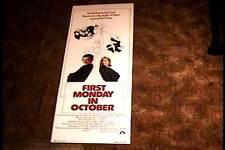 FIRST MONDAY IN OCTOBER 1981 ROLLED INSERT 14X36 MOVIE POSTER WALTER MATTHAU