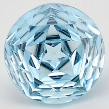 8.25 Cts Natural Sky Blue Topaz 12X12 mm Round Cut Loose GemstoneDG175SY