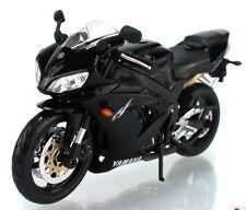 Maisto 1:12 Yamaha R1 Motorcycle Bike Model Black New in Box
