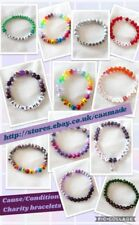 Handmade awareness bead bracelet  - various colours and designs available