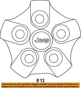Jeep CHRYSLER OEM 09-17 Compass Wheels-Center Cap YX93S4AAB