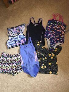 Girls Clothes Swimsuit  , Bikini Summer Bundle Adidas/ Slazenger Aged 9/10 Years