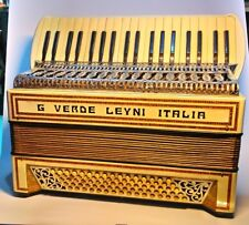 Antique Accordeon Antica Fisarmonica Verde signature  80 bassi