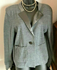 MARC JACOBS SHADOW GREY MULTI WOOL BLEND LINED SWEATER BLAZER CARDIGAN SIZE L!