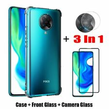 For Xiaomi POCO F2 Pro, Soft TPU Cover Case +Lens Camera Film +Screen Protector
