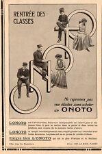 ONOTO PORTE PLUME RESERVOIR ENCRE PEN PARIS PUBLICITE 1909 FRENCH AD