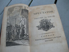 1767 THE SPECTATOR VOLUMES 6 & 7 LONDON PRINTED FOR J & R TONSON IN THE STRAND