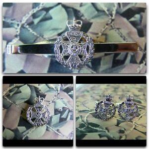 Royal Green Jackets Lapel / Cuff Links / Tie Bar Gift Set Version 1 RGJ