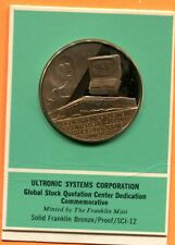 Ultronic Systems Corp., Dedication of New Center 1970, Bronze 39mm
