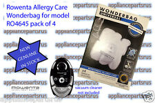 Rowenta Wonderbag Vacuum Cleaner Bags Pk4 Part No WB484730 for model RO464583
