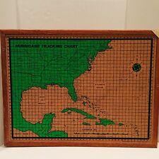 Vintage Ghent Hurricane Tracking Map Cork Board Framed Weather Map 24�x18� 1979