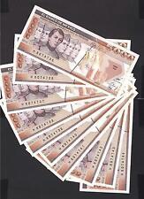 Mexico p-88c, UNC, 5000 Pesos, 1989 , Prefix KQ , DEALER'S LOT OF 10 PIECES!!