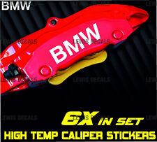 BMW Caliper Stickers Kit High Temp Quality Decals 6x Pack Fast Dispatch