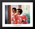 Grandma's Mirror 24x30 Large Black Wood Framed Art Print by Donald Zolan