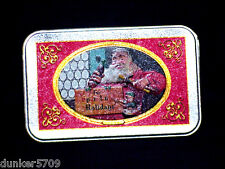 ONE COCA COLA PLAYING CARD METAL TIN FEATURING SANTA -NO CARDS INCLUDED #2